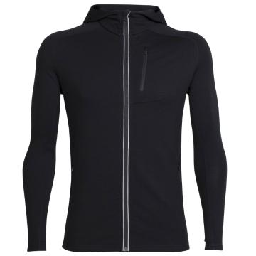 Icebreaker Merino Men's Quantum Long Sleeve Zip Hoodie - Black