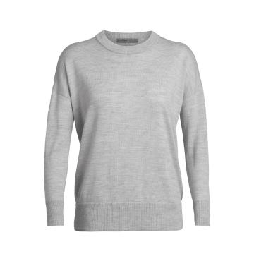 Icebreaker Women's Shearer Crewe Sweater - Steel Hthr