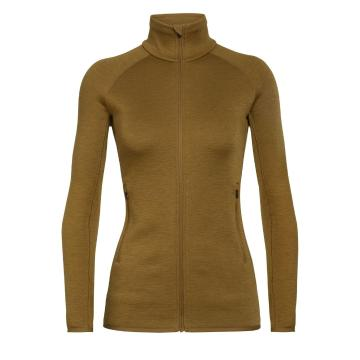 Icebreaker Women's Elemental Long Sleeve Zip - Curry