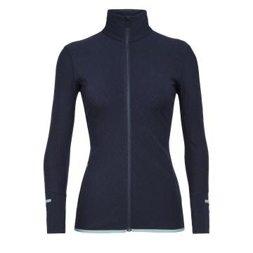 Icebreaker Women's Descender Long Sleeve Zip - Midnight Navy