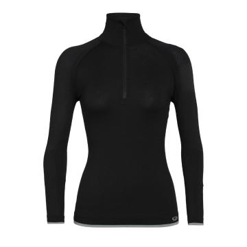 Icebreaker Women's 200 Zone Seamless Long Sleeve Half Zip - Black
