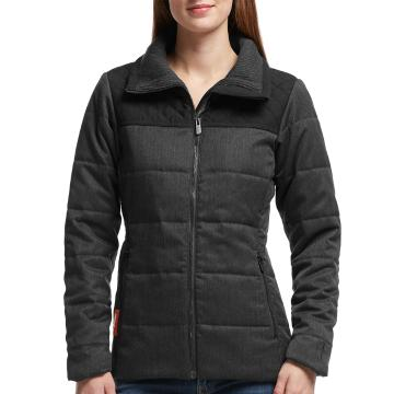 Icebreaker Merino Women's Helena Long Sleeve Zip Jacket - Jet HTHR/Black