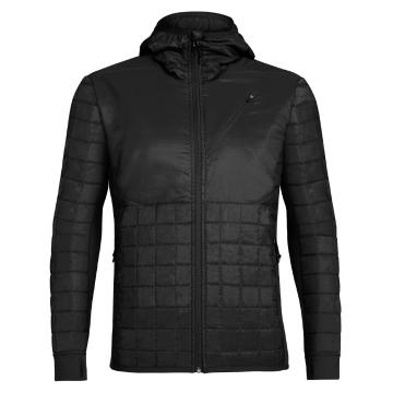 Icebreaker Men's Helix Long Sleeve Zip Hood Jacket - Black/Black/Black