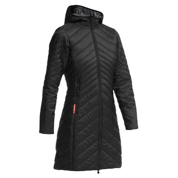 Icebreaker Women's MerinoLOFT Stratus 3/4 Jacket - Black/Monsoon/Black