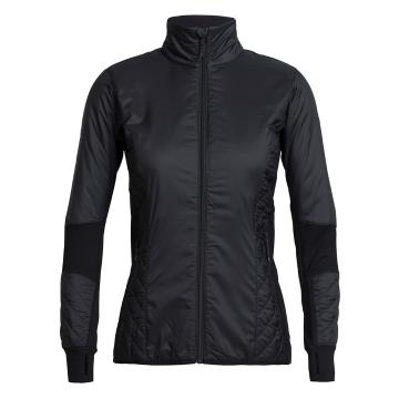 Icebreaker Women's Helix Long Sleeve Zip - Black