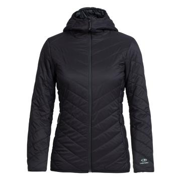 Icebreaker Merino Women's Hyperia Hooded Jacket - Black