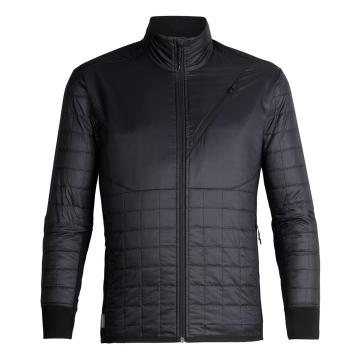Icebreaker Men's Helix Long Sleeve Zip - Black/Jet HTHR