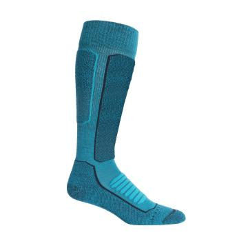Icebreaker Women's Ski+ Medium OTC Socks - Arctic Teal/Midnight Navy