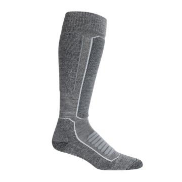 Icebreaker Men's Ski+ Medium OTC Socks - Gritstone HTHR/Black