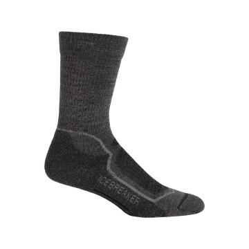 Icebreaker Men's Hike+ Light Crew Socks - Twister HTHR/Silver/Oil