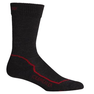 Icebreaker Merino Men's Hike+ Lt Crew Socks - Jet/Black/Red