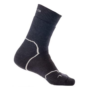 Icebreaker Merino Men's Hike+ Heavy Crew Socks - Jet HTHR/Twister HTHR/Black