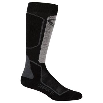Icebreaker Mens Ski+ Lt OTC Socks - Oil/Black/Silver