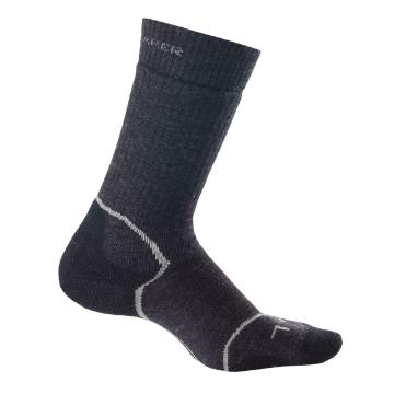Icebreaker Merino Women's Hike+ Medium Crew Socks - Jet HTHR/Silver/Black