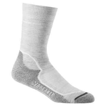 Icebreaker Merino Women's Hike+ Medium Crew Socks - Blizzard HTHR/White/Oil