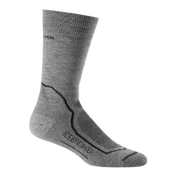 Icebreaker Merino Men's Hike+ Medium Crew Socks - TwistHTHR/Black/Monsoon