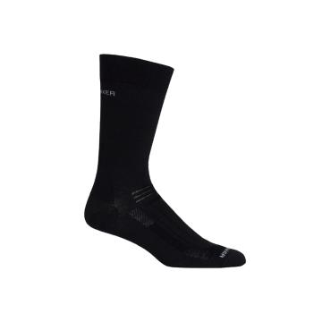 Icebreaker Merino Men's Hike Ultra Light Liner Crew Socks - Black
