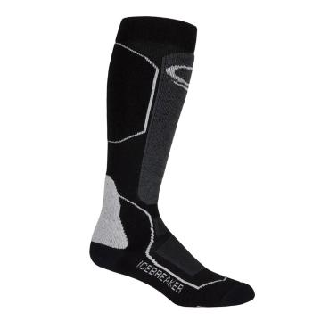 Icebreaker Merino Men's Ski+ Medium OTC Socks - Black/Oil/Silver