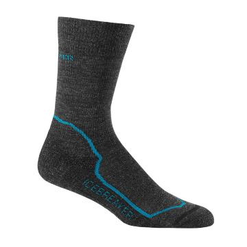 Icebreaker Merino Women's Hike+ Light Crewe Socks - Jet HTHR/Cruise/Black