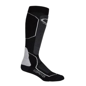Icebreaker Merino Women's Ski+ Medium OTC Socks - Black/Oil/Silver