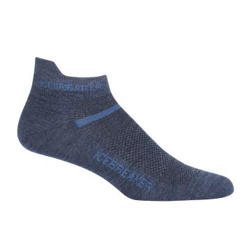 Icebreaker Men's Multi Ultra Light Micro Socks - Fathom HTHR/Sea Blue