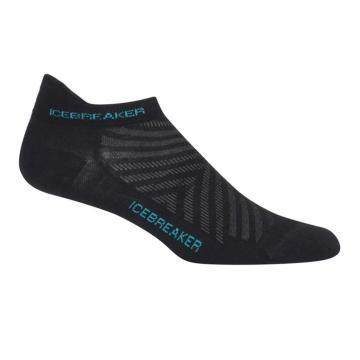 Icebreaker Women's Run Ultra Light Micro Socks - Black/Lagoon