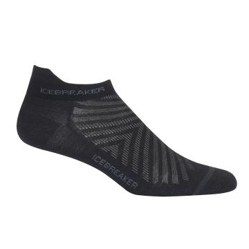 Icebreaker Mens Run+ Ultralight Micro Socks - Black/Monsoon