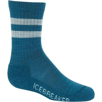 Icebreaker Kids Hike Light Crew Socks - Kingfisher/DEW