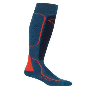 Icebreaker Men's Ski+ Med Socks - PRUSSIANBLU/MidnightNavy/CHRED