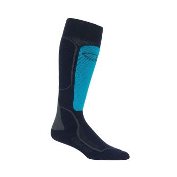 Icebreaker Women's Ski+ Medium Over the Calf Socks - MidnightNvy/ArcticTeal/Monsoon