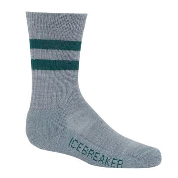 Icebreaker Kids Hike Light Crew Socks - Twister HTHR/DK PINE