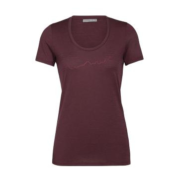 Icebreaker Women's Tech Lite Short Sleeve Scoop - Redwood