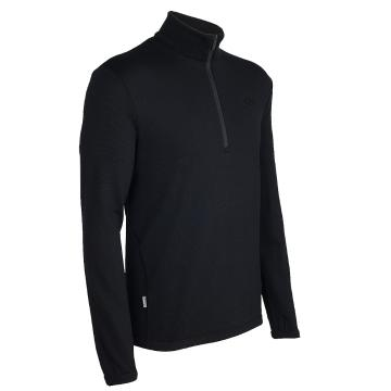 Icebreaker Merino Men's Original Long Sleeve Half Zip - Black