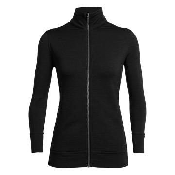 Icebreaker Merino Women's Dia Long Sleeve Zip - Black