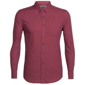 Icebreaker Mens Compass Flannel Long Sleeve Shirt