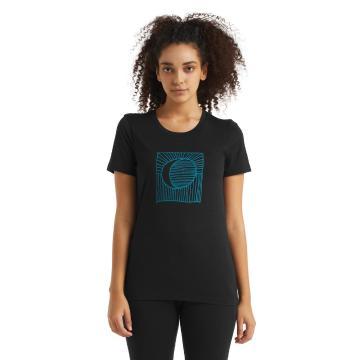Icebreaker Women's Tech Lite Short Sleeve Tee - Black