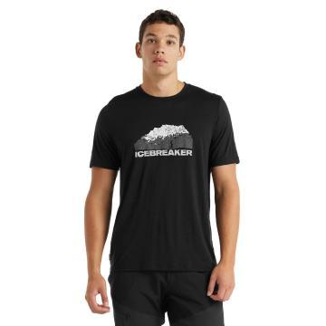 Icebreaker Men's Tech Lite Short Sleeve Tee  - Black