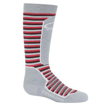 Icebreaker Kid's Snow Med Socks - Smoke/Snow/PRISM
