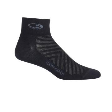 Icebreaker Men's Run+ Ultralight Mini Sock - Black