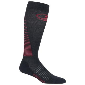 Icebreaker Women's Multisport With Compression Light Over the Calf - Jet HTHR/PRISM/BLACK