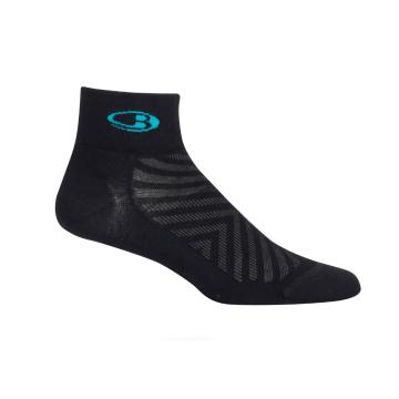 Icebreaker Women's Run+ Ultralight Mini Socks - Black