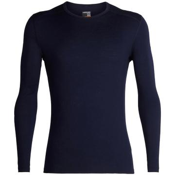 Icebreaker Men's 200 Oasis Long Sleeve Crewe - Midnight Navy