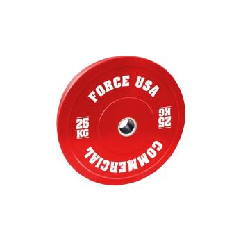Force USA Pro Grade Bumper Plate 25kg - Red