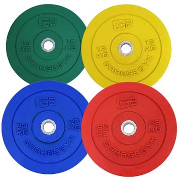 Garage Gym Bumper Plate- Olympic - 10mm think central ring