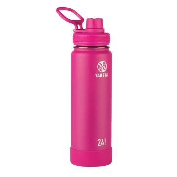 Takeya Stainless Steel Drink Bottle - 710ml - Fuchsia