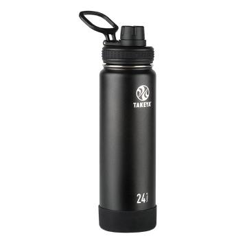 Takeya Stainless Steel Drink Bottle - 710ml - Onyx Black