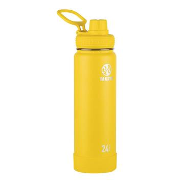 Takeya Stainless Steel Drink Bottle - 710ml - Solar Yellow
