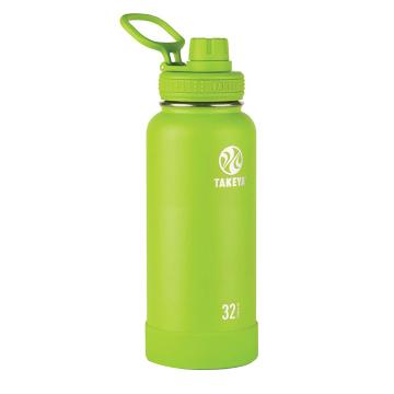 Takeya Stainless Steel Drink Bottle - 950ml - Lime