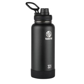 Takeya Stainless Steel Drink Bottle - 950ml - Onyx Black