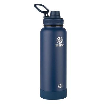 Takeya Stainless Steel Drink Bottle - 1.2L - Midnight